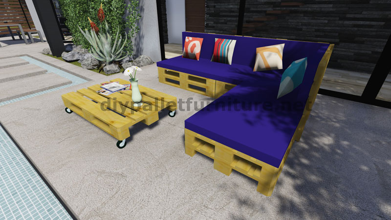 Instructions and 3d plans of how to make a sofa for the garden with pallets12