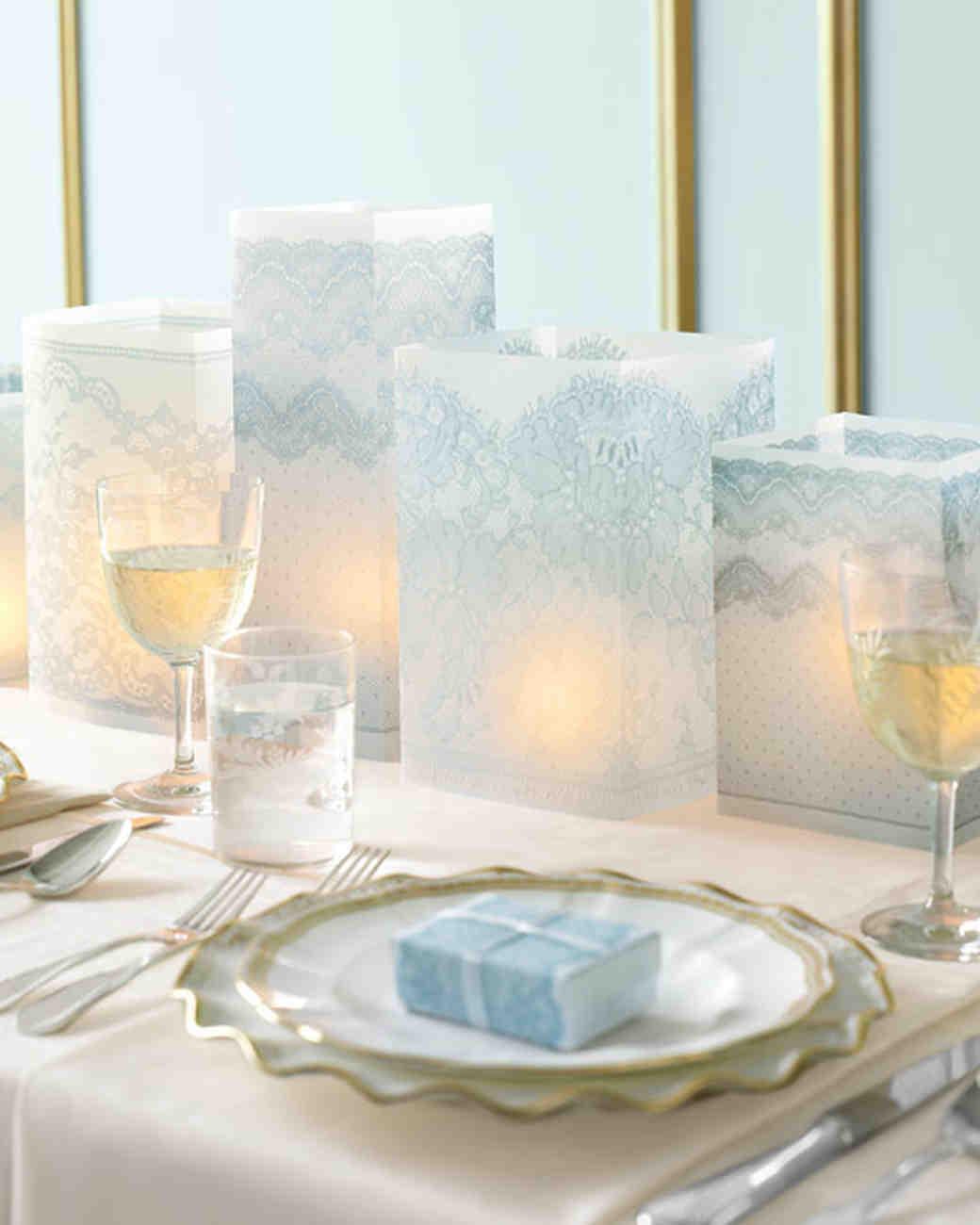 Lacy vellum paper luminaries