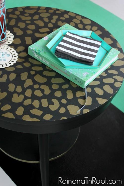 Leopard print tabletop
