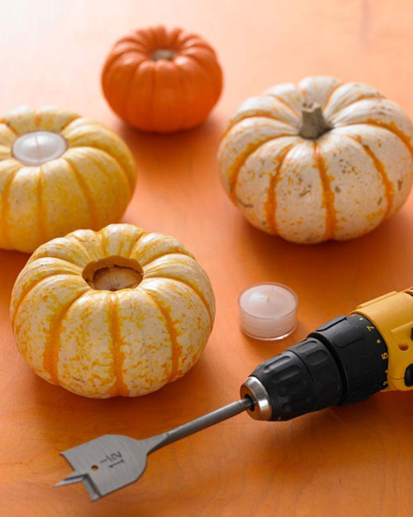 Mini pumpkin tealights