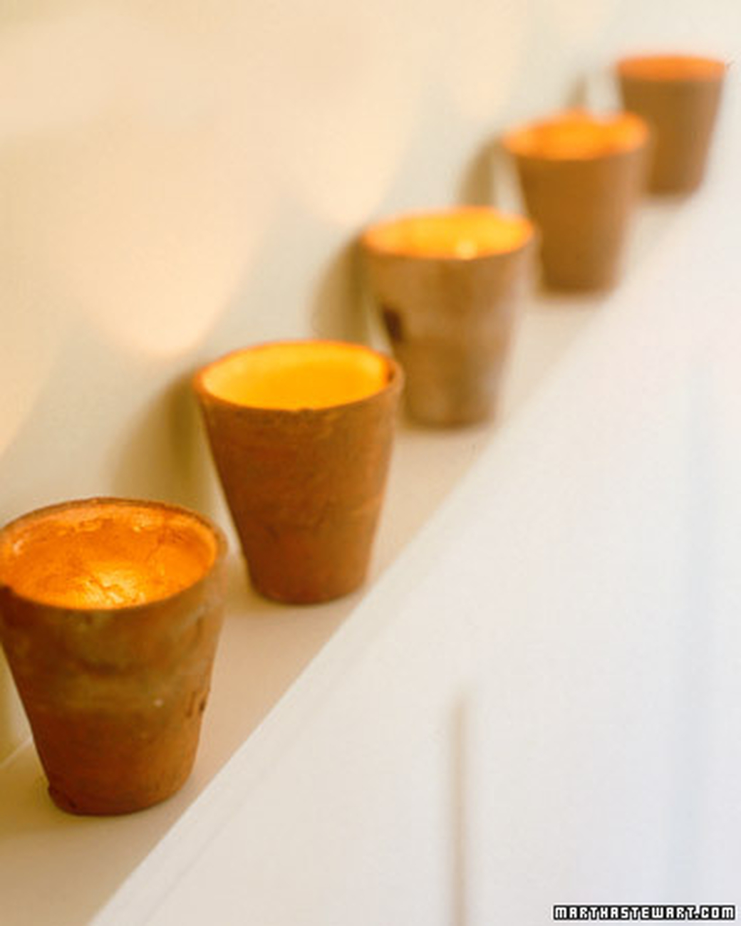 Mini terra cotta votives