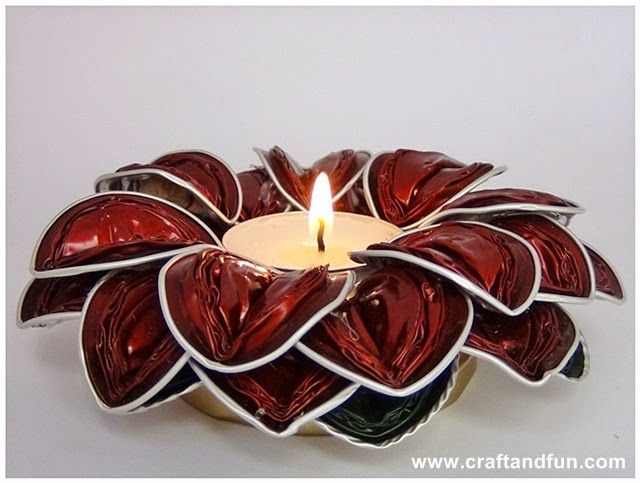 Nespresso capsule candle flower