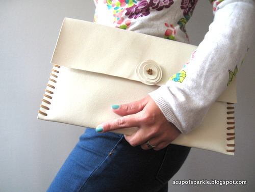 No sew laptop clutch
