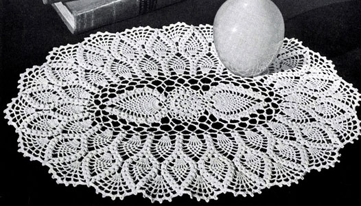 Oval pinapple doily pattern