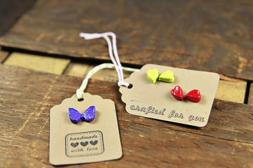 Painted glue gun charms
