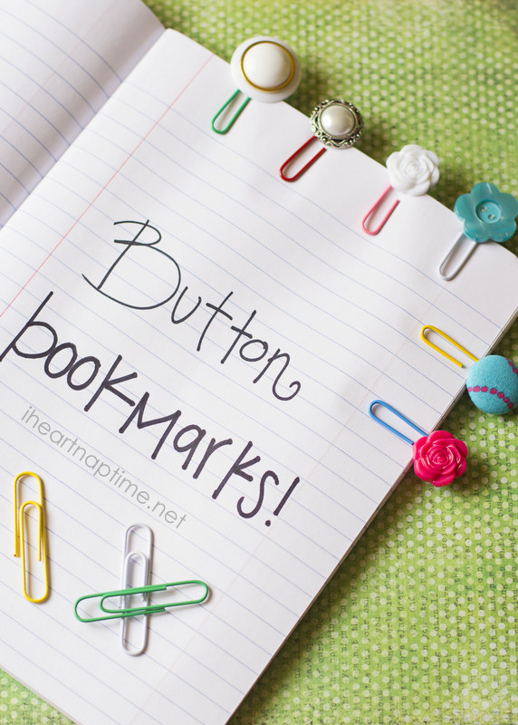 Paper clip and button bookmarks