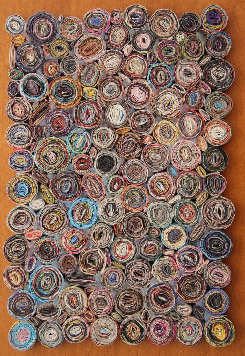 Paper spiral trivet