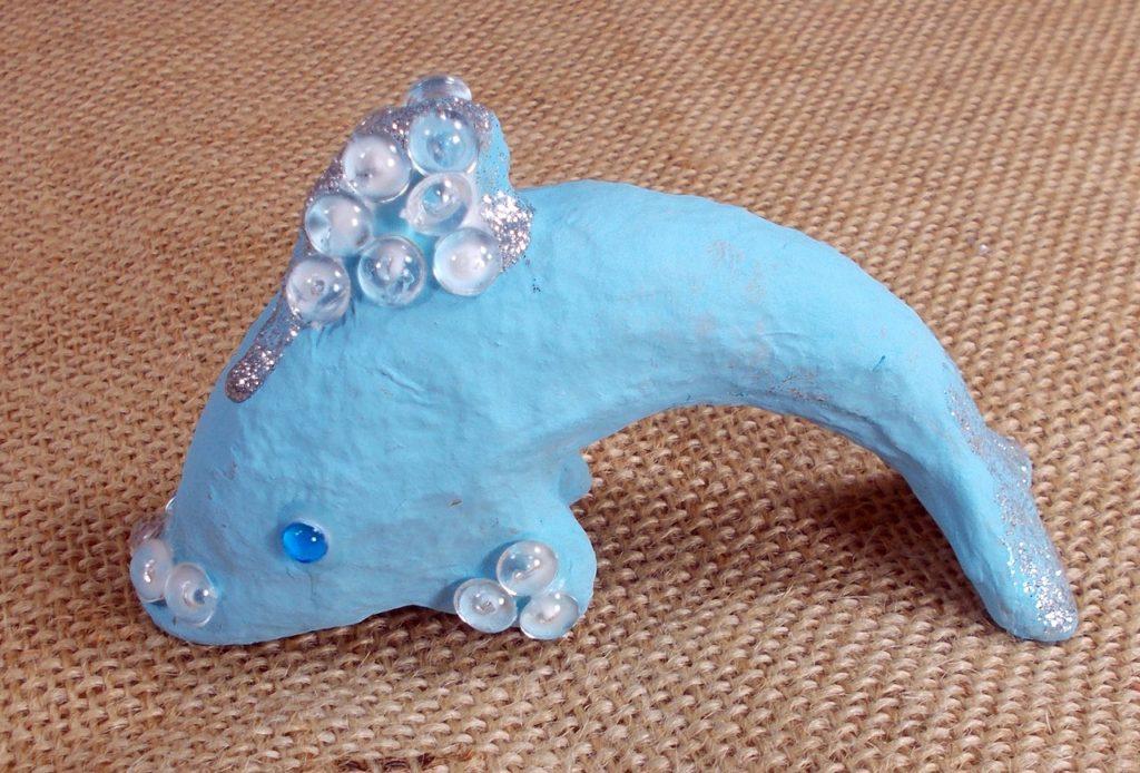 Papier mache dolphin