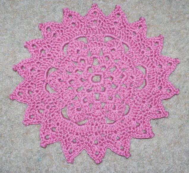 Picot points doily