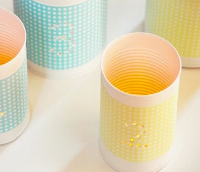 Punched tins votives