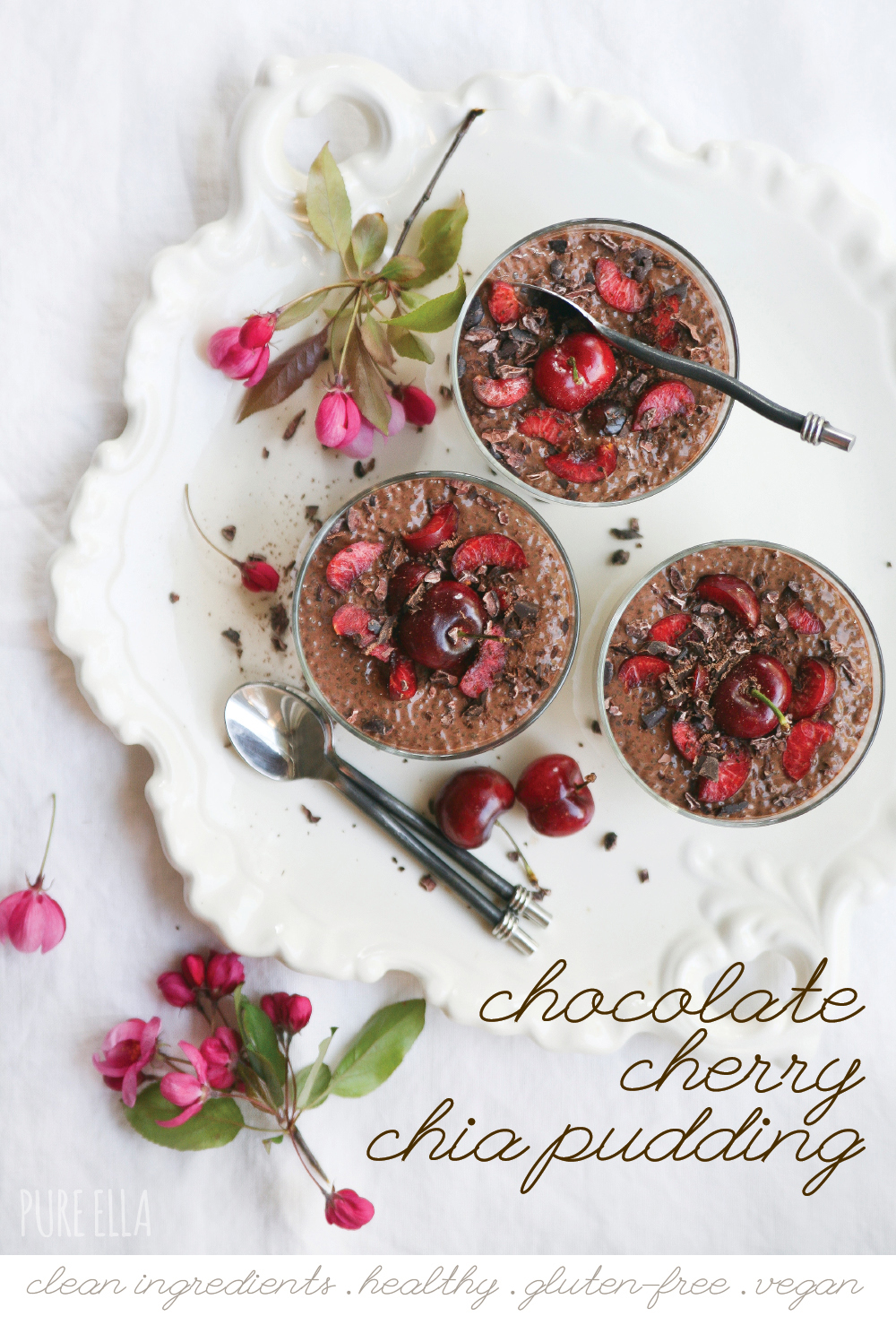 Pure ella gluten free vegan chocolate cherry chia pudding1