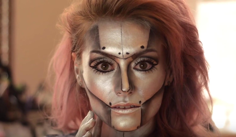 Robot halloween makeup