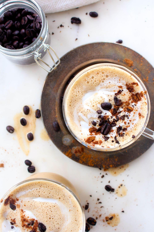 Salted caramel pumpkin spice latte coconut
