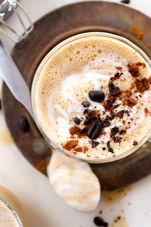 Salted caramel pumpkin spice latte top
