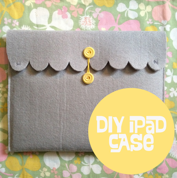 Scalloped edge felt tablet case
