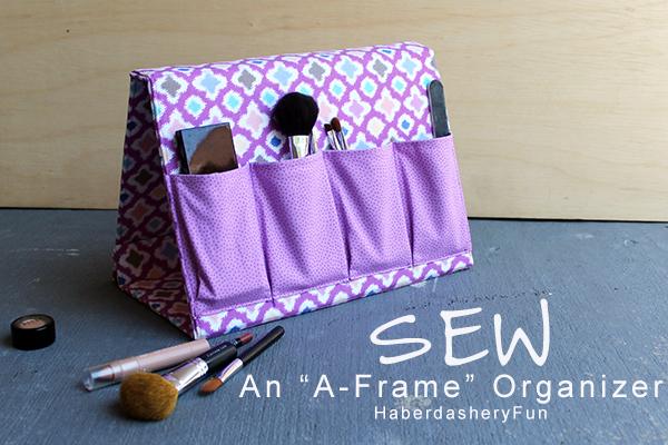 Sew a frame fabric organizer haberdasheryfun