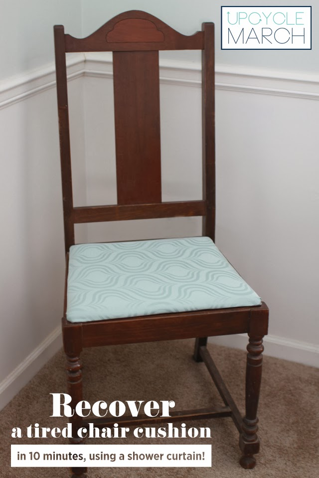 Shower curtain chair cushion