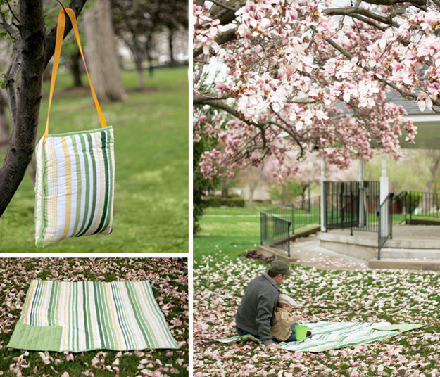Shower curtain picnic blanket