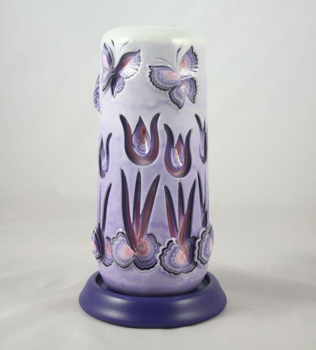 Tulip and butterfly candle