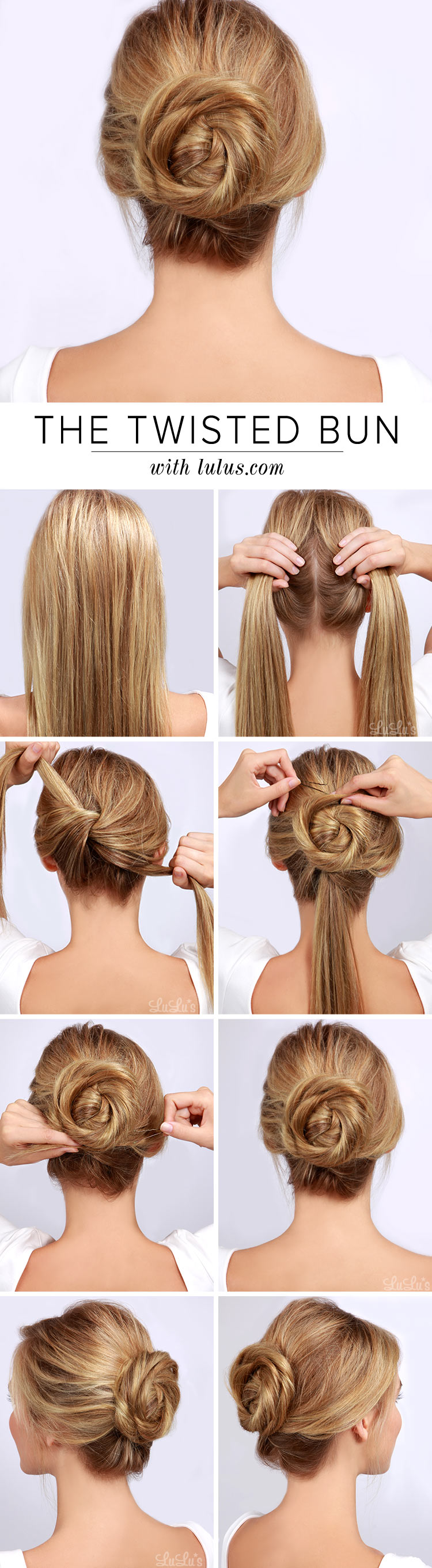 Twisted bun diy