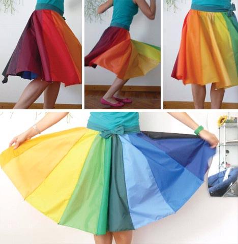 Umbrella circle skirt