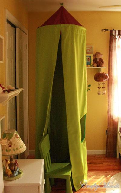 Umbrella play tent