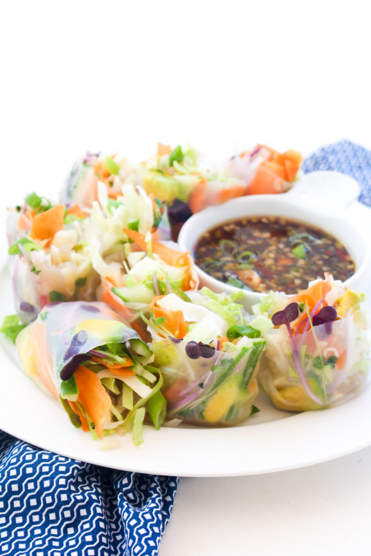 Vegetable summer rolls recipe