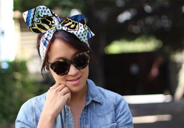 Wire scarf headband
