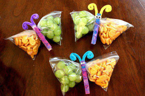 Ziplock bag butterflies