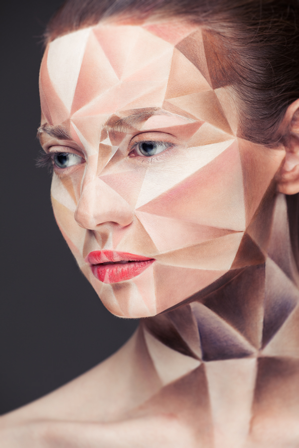 Angular art halloween makeup