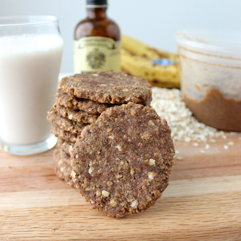 Banana almond butter cookies recipe