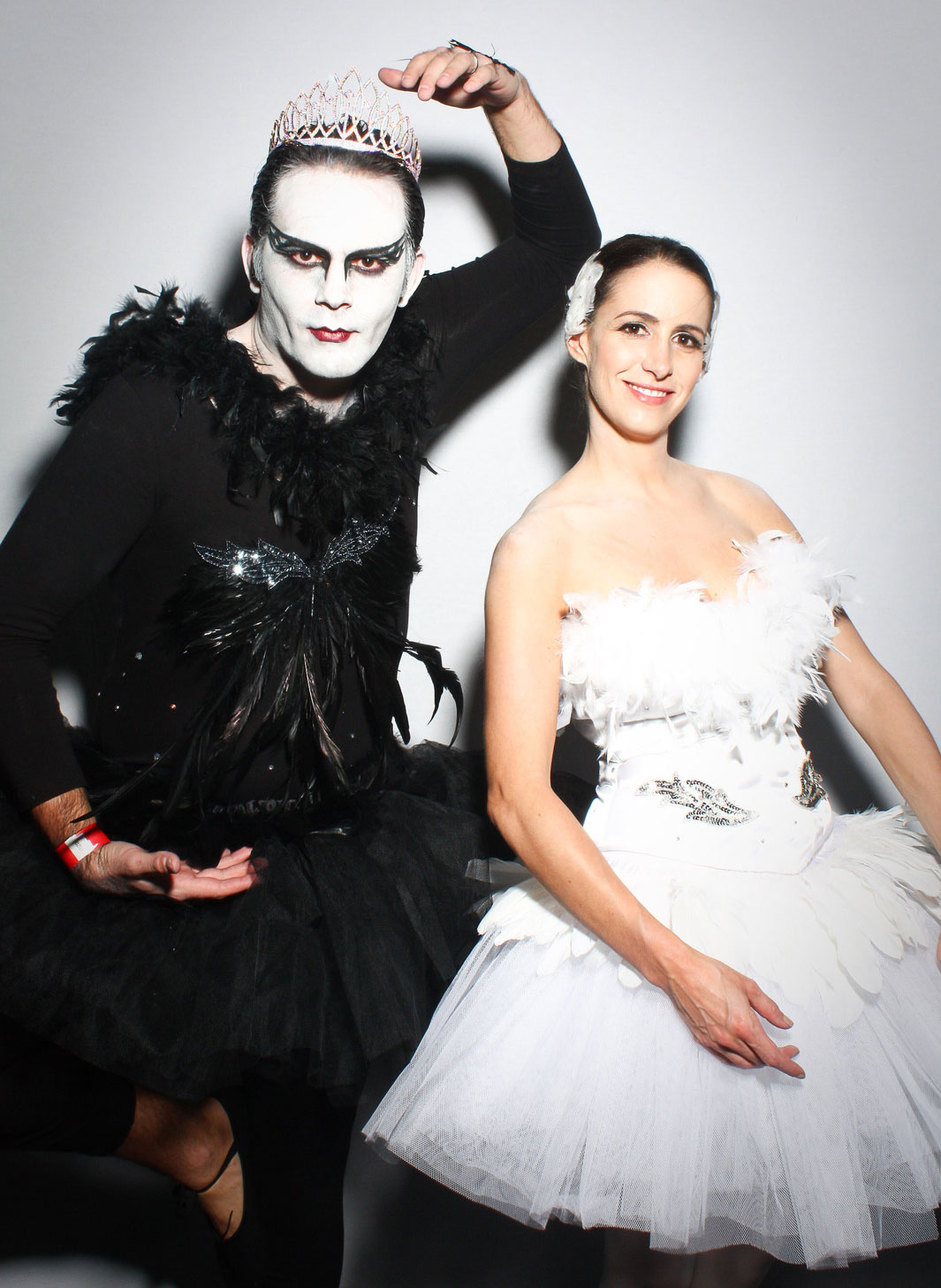 Black and white swan costumes