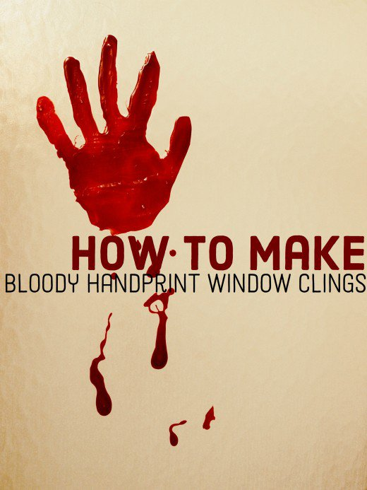 Blood handprint window clin diy