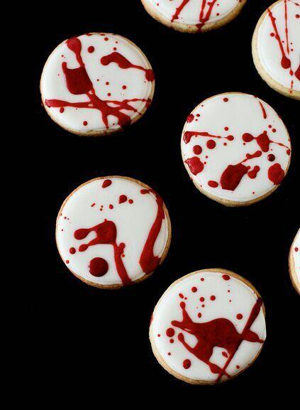 Blood spatter cookies halloween treats