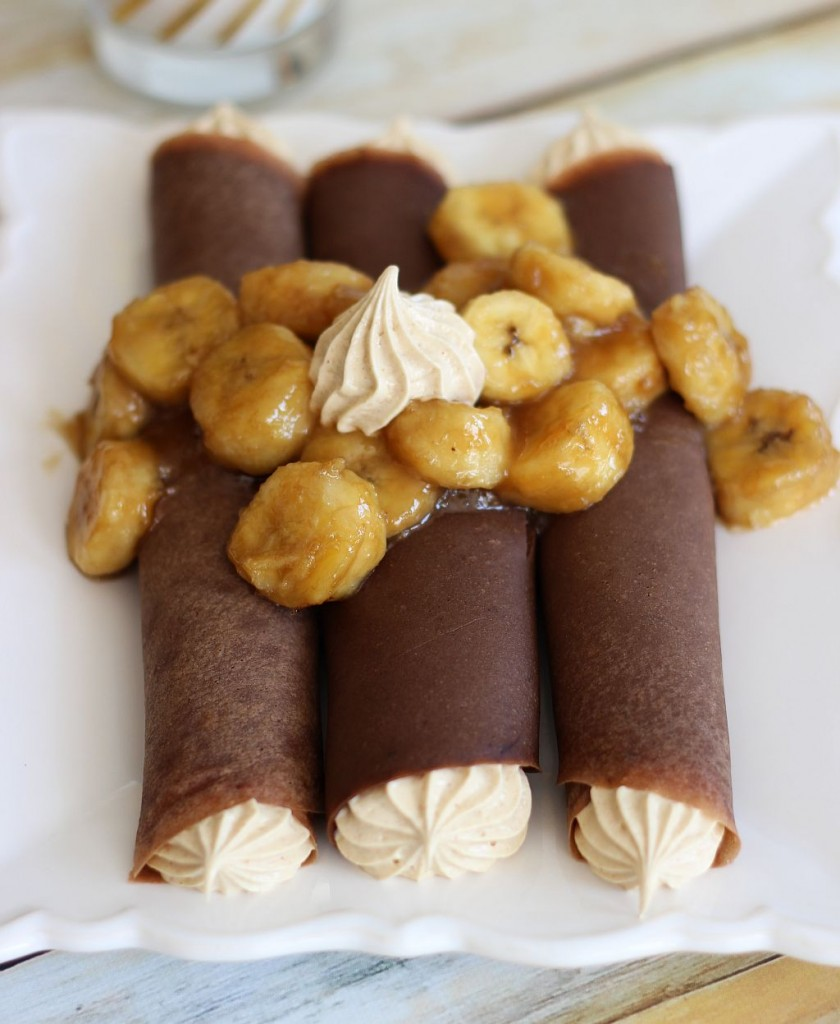 Chocolate crepes with peanut butter marshmallow filling and caramelized bananas 9 840x1024