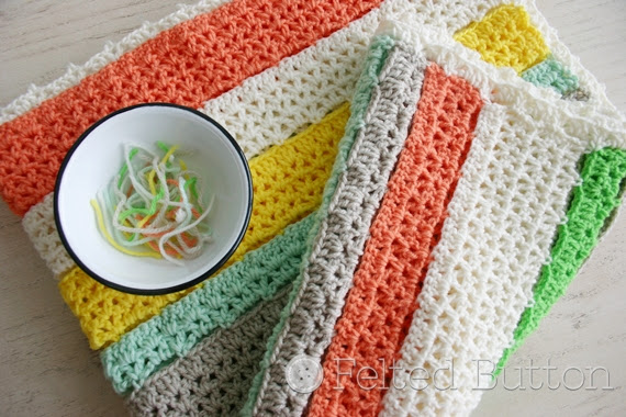 Citrus diy baby crochet blanket