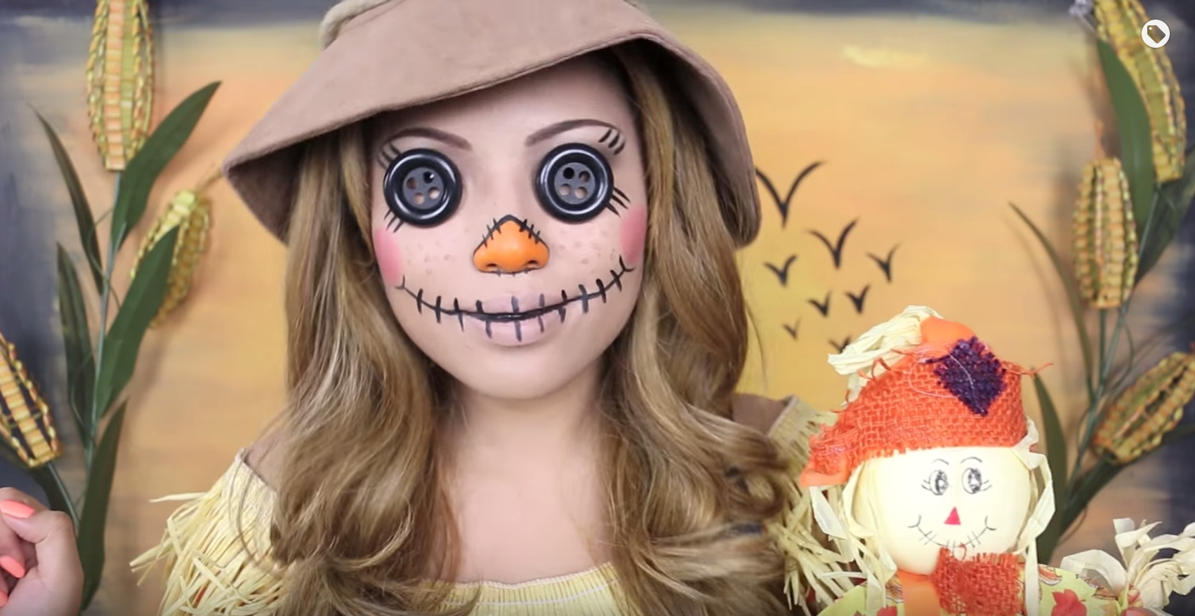 Creepy scarecrow halloween makeup