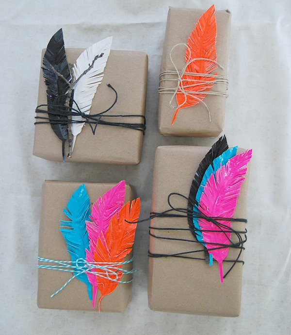 Diy duck tape feathers