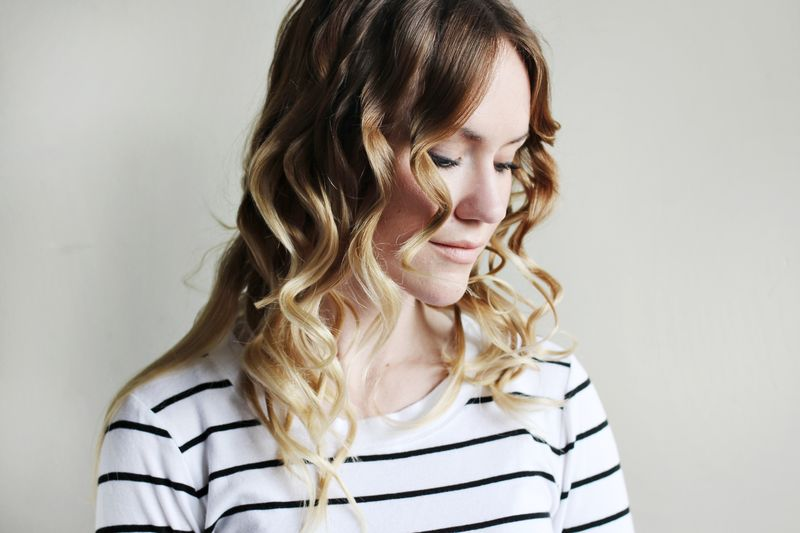 Diy flat iron curls