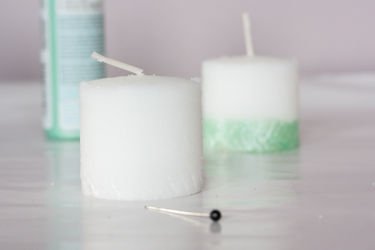 Diy herringbone ombre candle fall home decor pattern