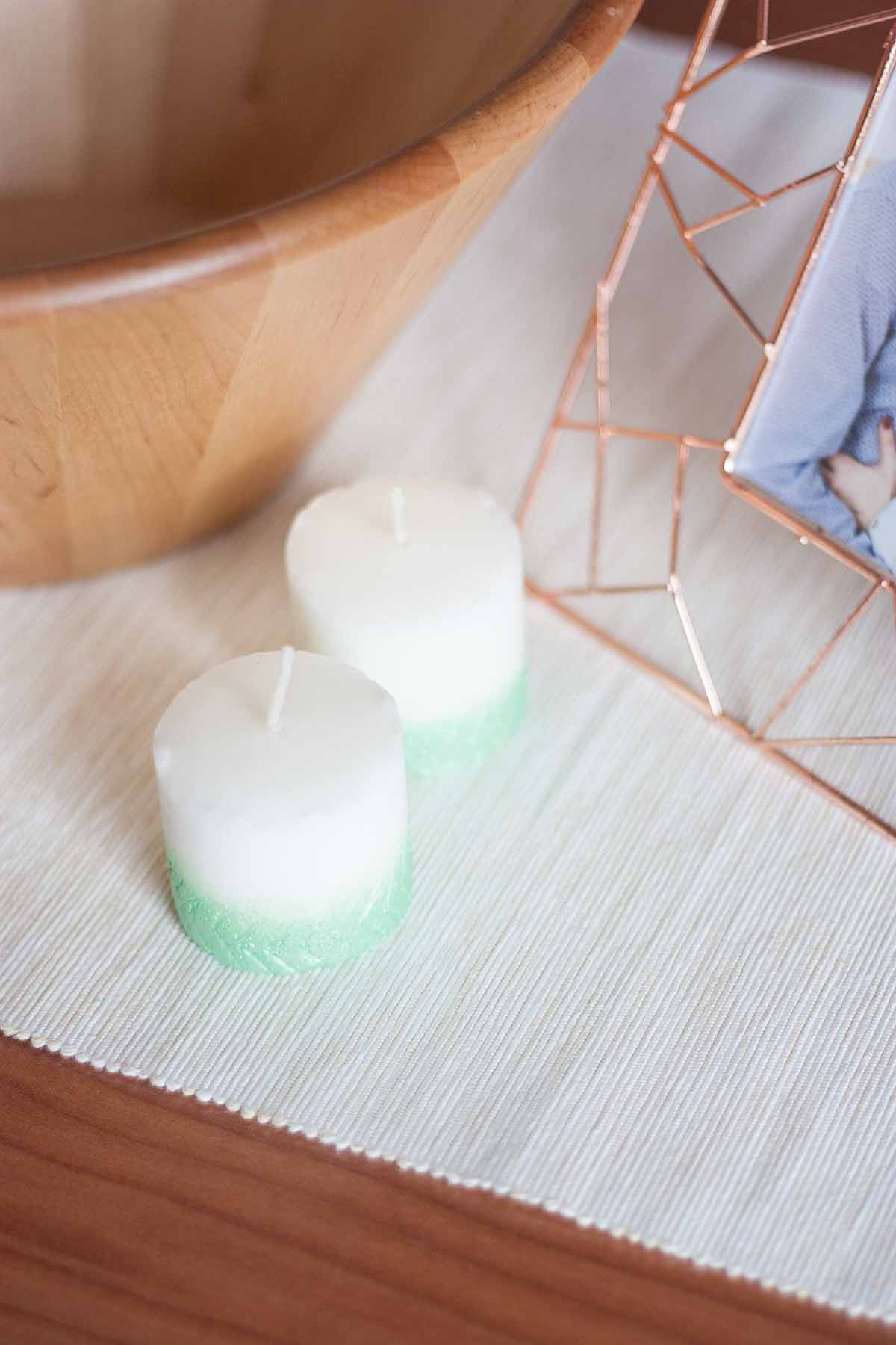 Diy Herringbone Ombre Candle Fall Home Decor Set 2