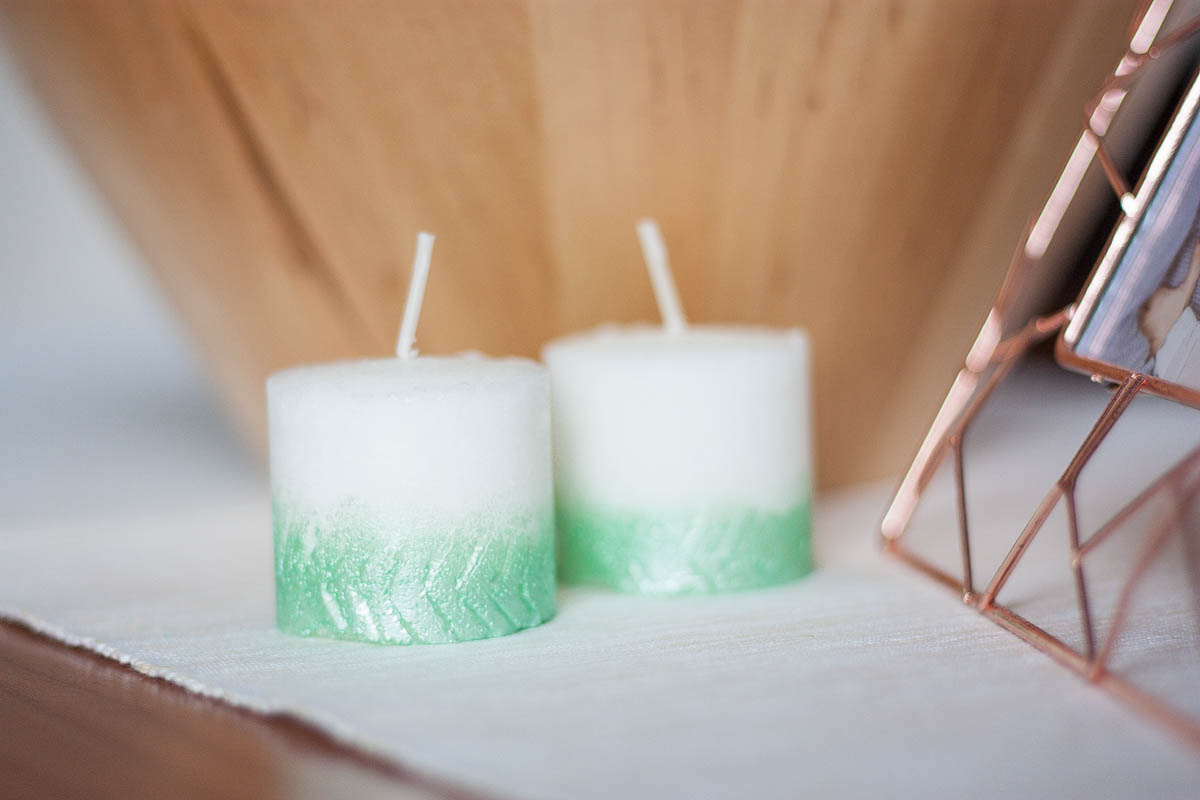 Diy herringbone ombre candle fall home decor set 4
