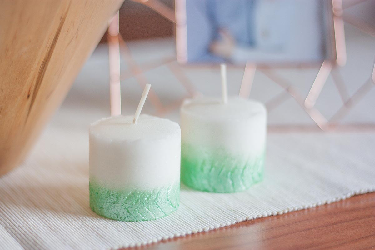 Diy herringbone ombre candle fall home decor set