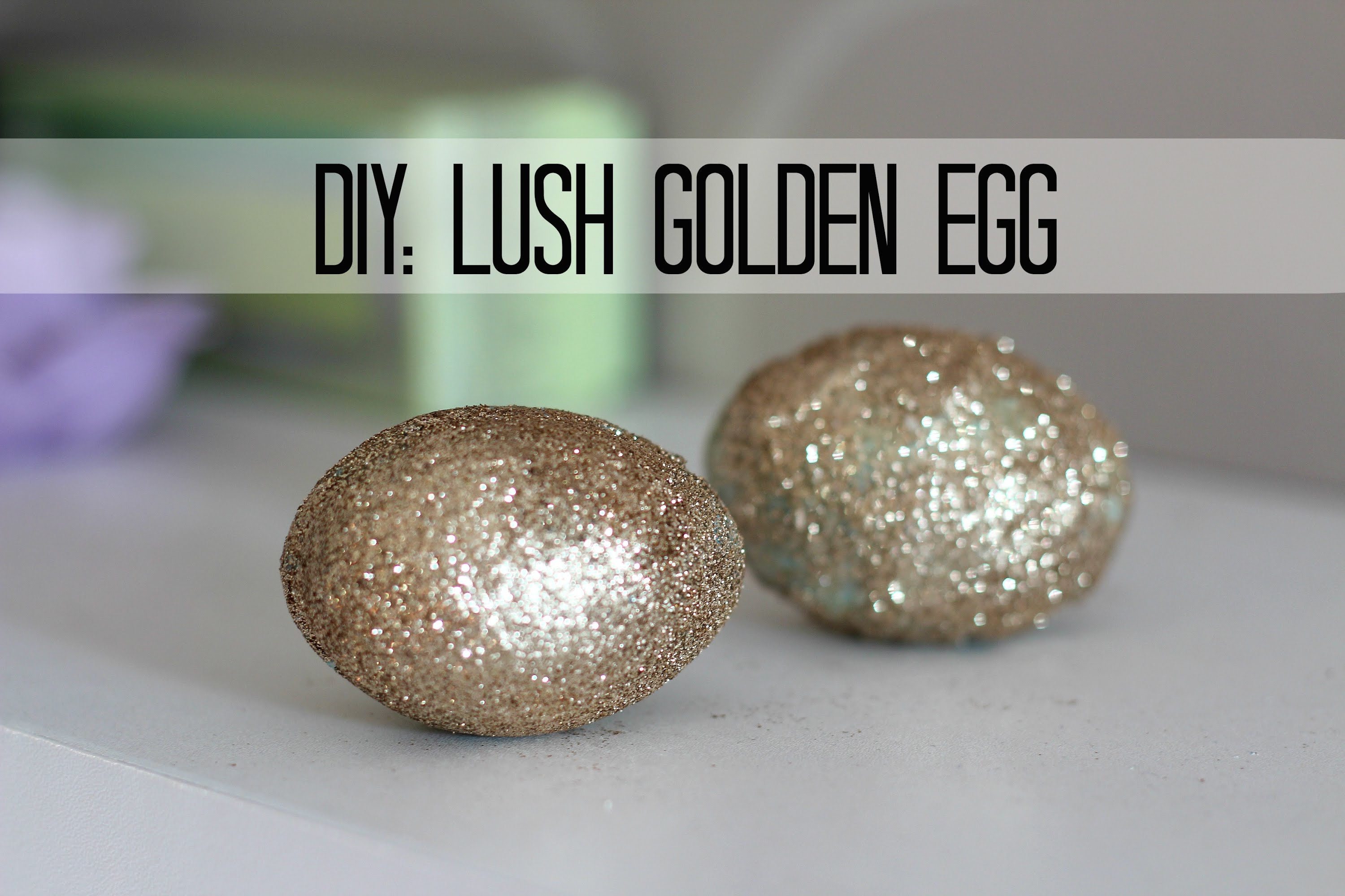 Diy lush golden egg bath bomb