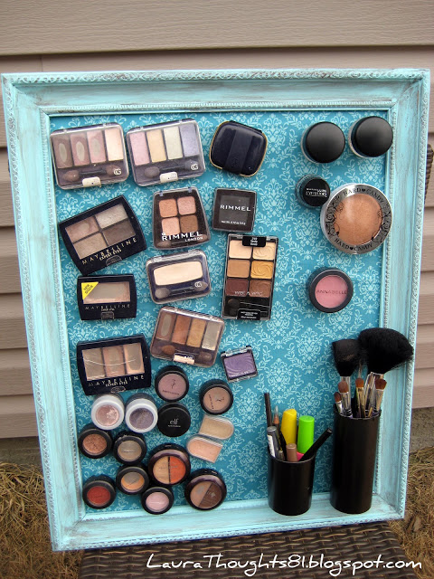Diy makeup magnet board