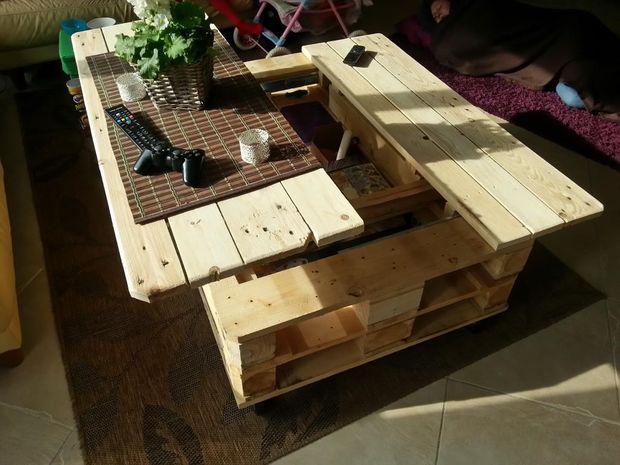 Diy multi function coffee table