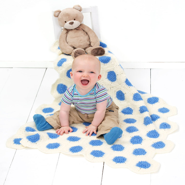 Diy polka dot baby blanket