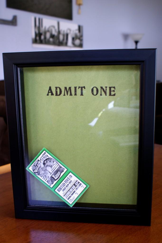 Diy ticket stub box