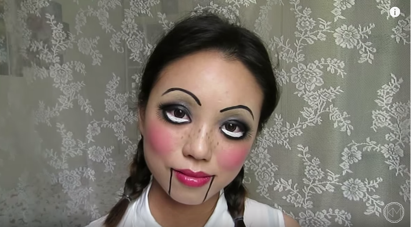 Doll halloween makeup