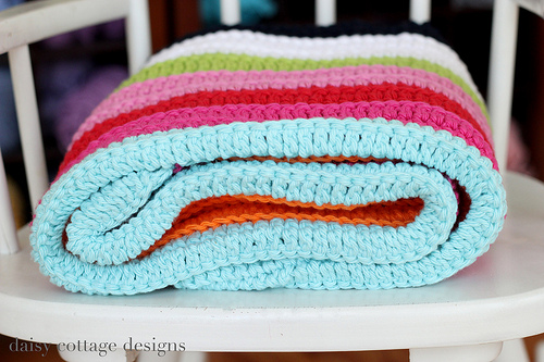 Easy corchet baby blanket diy